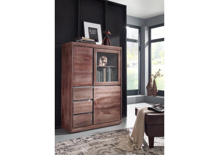 Sydney Highboard 225 Sheesham Palisander Möbel