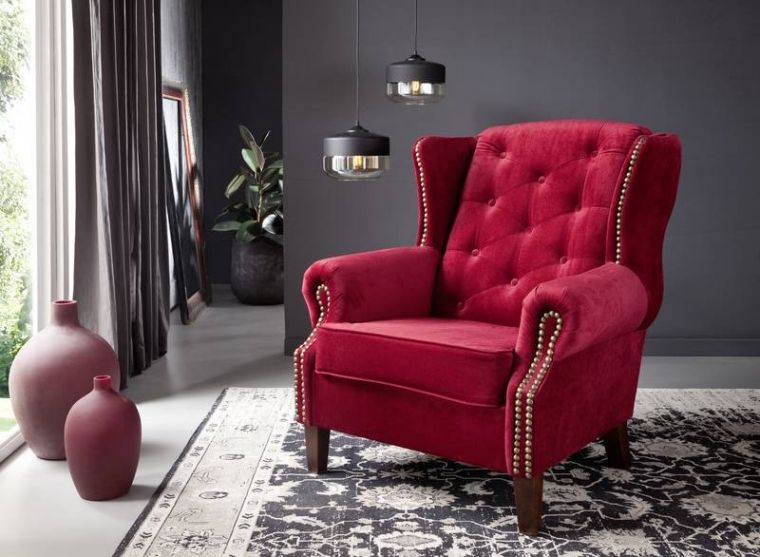 sessel rot, oxford sessel chesterfield rot, Design ideen