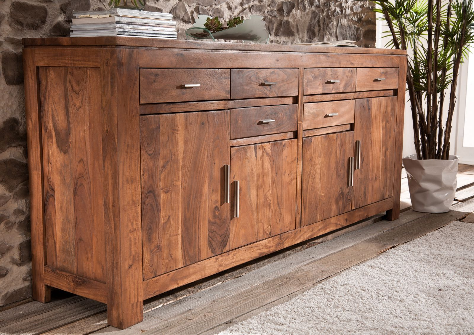 sideboard akazie bestseller shop f r m bel und einrichtungen. Black Bedroom Furniture Sets. Home Design Ideas