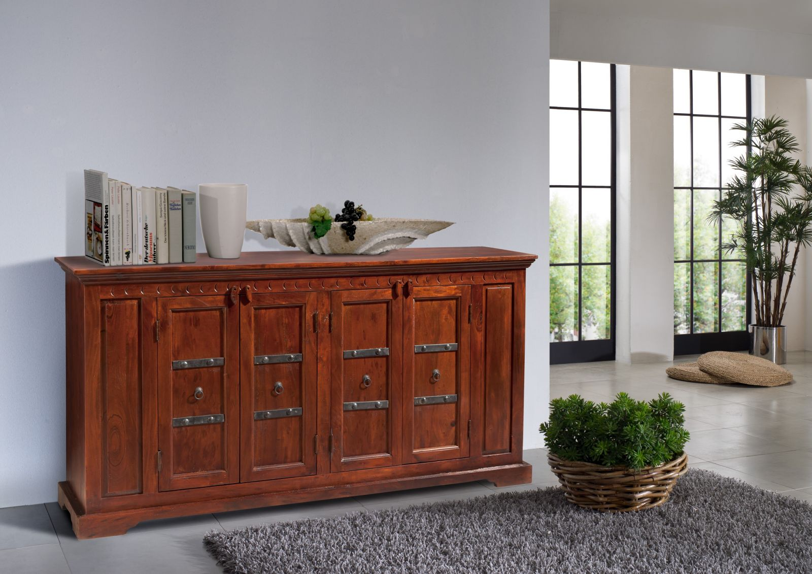 anrichte sideboard kommode 4 t rig hartholz mahagoni. Black Bedroom Furniture Sets. Home Design Ideas