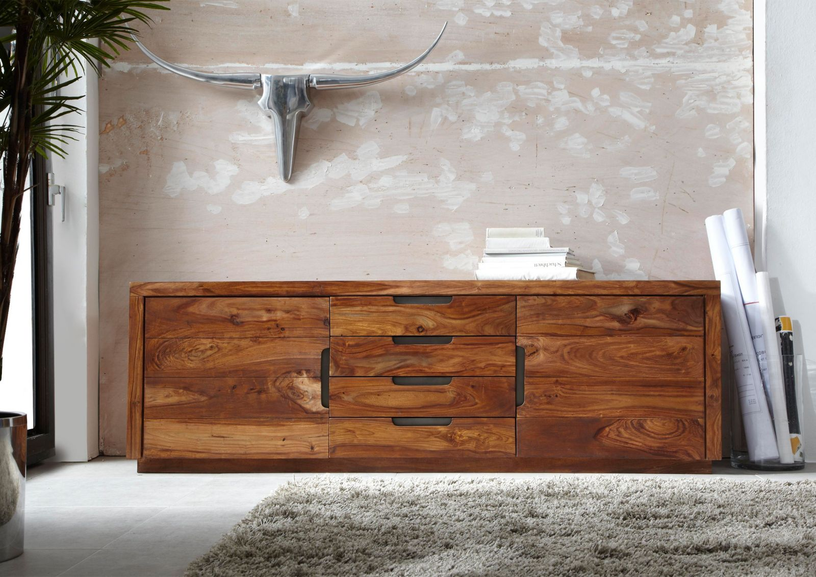 Duke Sideboard 116 Sheesham Palisander Möbel Massiv