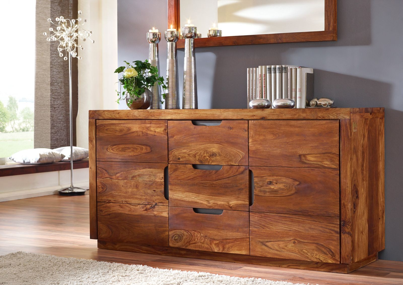 Duke Sideboard 125 Sheesham Palisander Möbel Massiv