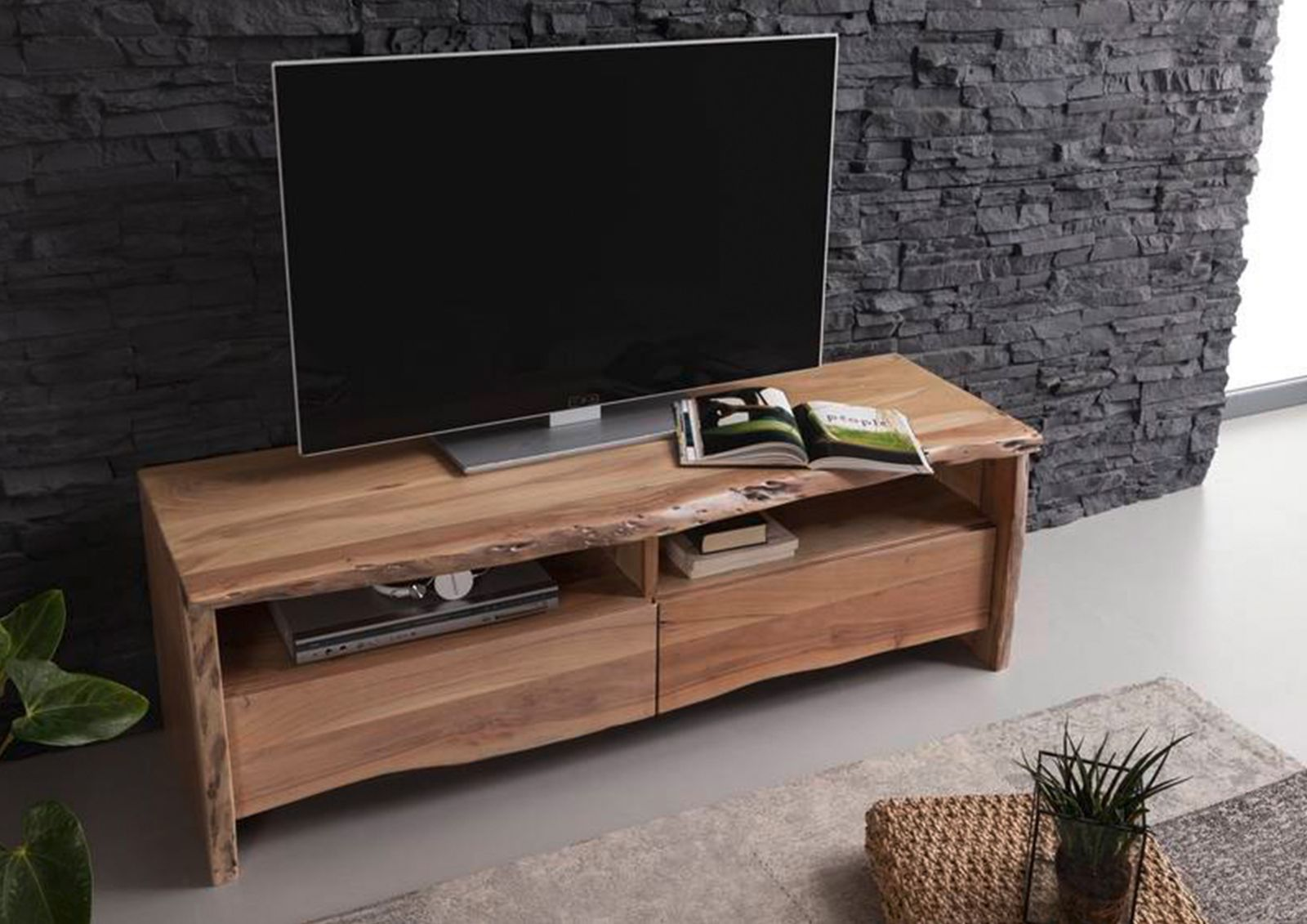 tv board akazie 151x45x50 lackiert live edge 108. Black Bedroom Furniture Sets. Home Design Ideas