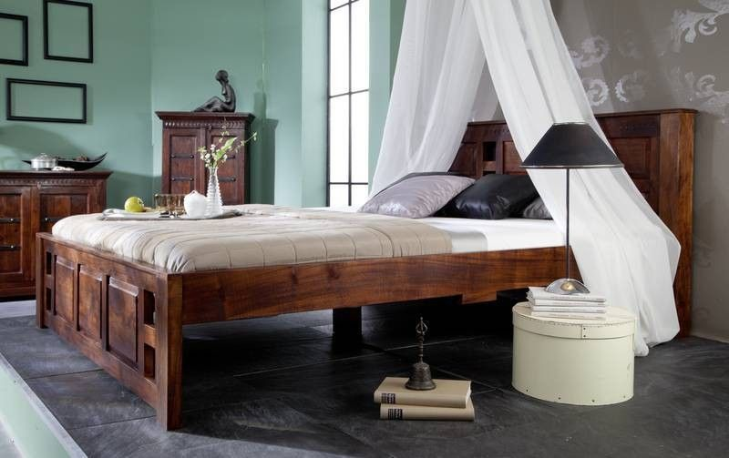 bett der serie oxford aus akazienholz. Black Bedroom Furniture Sets. Home Design Ideas