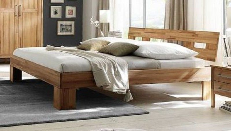 monza bett 160 180x200 kernbuche massiv ge lt. Black Bedroom Furniture Sets. Home Design Ideas