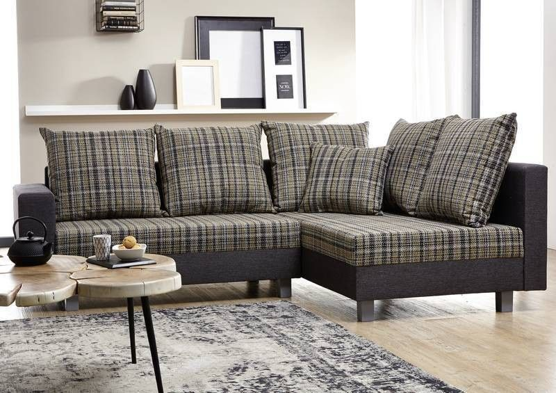 glasgow sofa ecksofa inklusive hocker grau. Black Bedroom Furniture Sets. Home Design Ideas