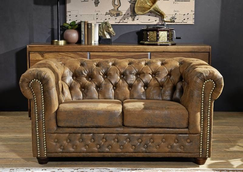 oxford sofa chesterfield antik look vintage braun. Black Bedroom Furniture Sets. Home Design Ideas