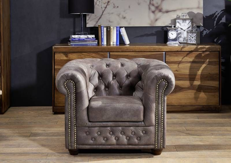 oxford sessel chesterfield antik look vintage dunkelbraun. Black Bedroom Furniture Sets. Home Design Ideas