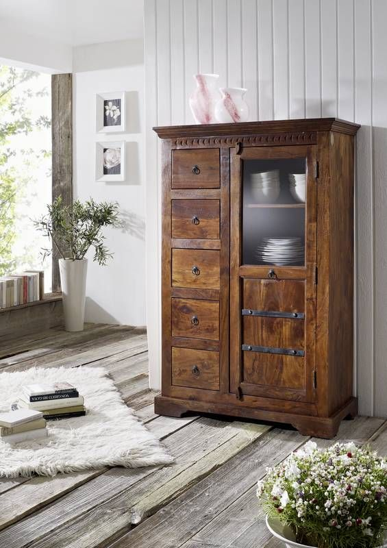 oxford brotschrank 417 akazie kolonial massiv. Black Bedroom Furniture Sets. Home Design Ideas