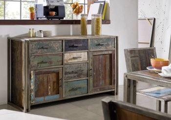 NEW YORK Sideboard #14 Indisches Altholz lack. / Metall