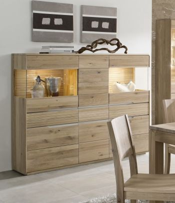 Highboard Wildeiche 162x42x138 natur hell geölt OSLO #342