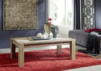 Sheesham Massivholz Couchtisch Palisander Möbel NATURE GREY #09