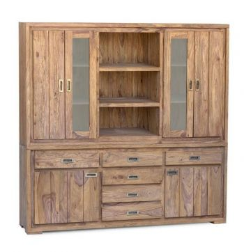 NATURE BROWN Highboard #860 Palisander / Sheesham massiv