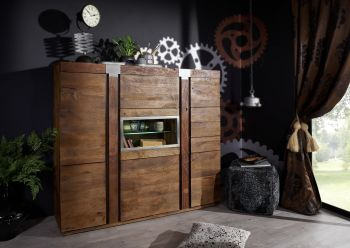 Highboard Mango 160x45x142 lackiert AMSTERDAM #07