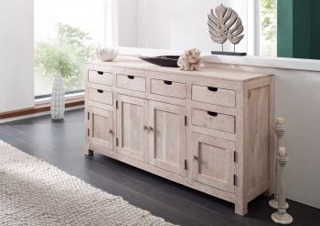 NATURE WHITE Sideboard #84 Akazie getüncht Möbel