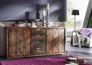 PURE SHEESHAM Sideboard #880 Palis. strong grey geölt