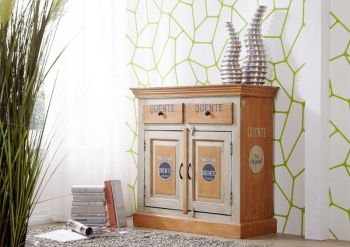 Sideboard Altholz 90x40x90 bunt lackiert PAINTED #173