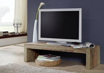 Palisander Massivholz TV-Board Sheesham Möbel NATURE GREY #0102