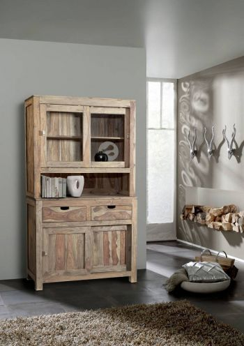Sheesham Holz massiv Buffet Palisander Möbel NATURE GREY #64