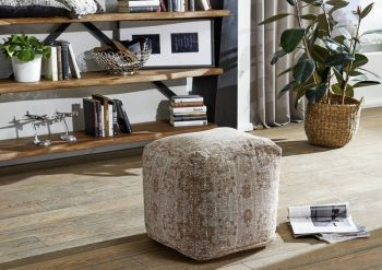 GRANTS Pouf Hocker beige