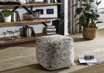 LINCOLN TWO Pouf Hocker türkis