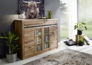 Highboard Wildeiche 170x45x125 Tabacco brown geölt MONTREUX #312