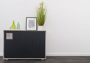 Sideboard Wildeiche 110xx42x78 ice grey lackiert HELSINKI #213