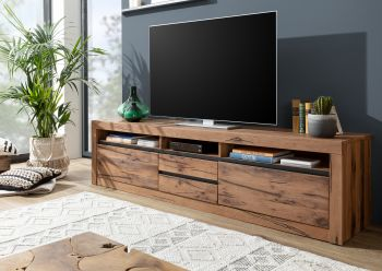 TV Lowboard Sideboard TV-Board Wildeiche 220x50x55 Tabacco brown geölt modern MONTREUX #240