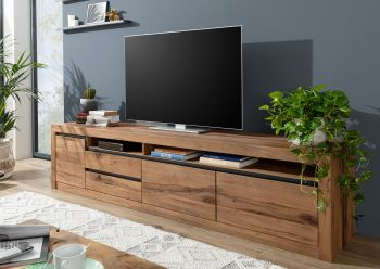 TV Lowboard Sideboard TV-Board Wildeiche 260x50x60 Tabacco brown geölt modern MONTREUX #241