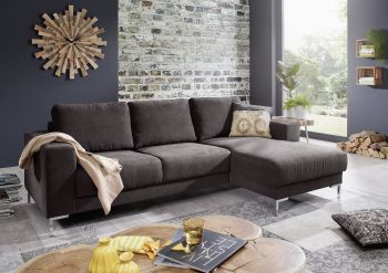Ecksofa 235x150x90 dunkelgrau LONDON