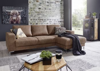 Ecksofa 235x150x90 camel LONDON