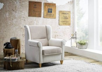Sessel DELUXE Loungesessel beige