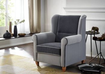 Loungesessel 82x83x99 grau DELUXECOMFORT
