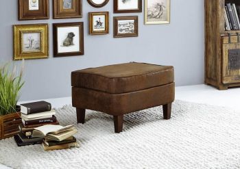 Hocker Chesterfield 56x67x46 braun OXFORD