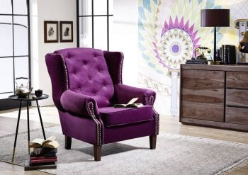 OXFORD Sessel Chesterfield Vintage lila