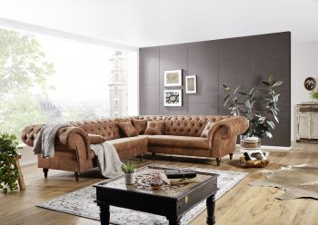 Sofa 284x251x77 cognac PRESTON