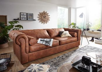 Sofa 240x115x77 cognac WINDSOR #106